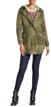 Desigual Long Sleeve Hooded Coat