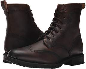 Frye James Lug Wingtip Boot Shearling Men's Lace-up Boots