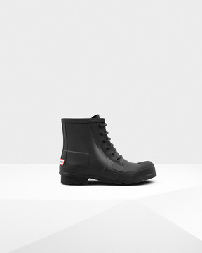 Hunter Men's Original Rubber Lace-up Boots