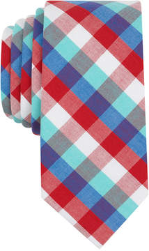 Bar III Men's Heywood Check Skinny Tie, Created for Macy's