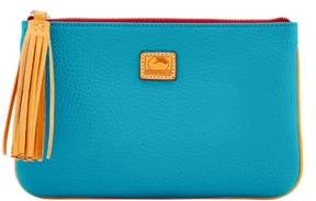 Dooney & Bourke Patterson Leather Carrington Pouch - TURQUOISE - STYLE