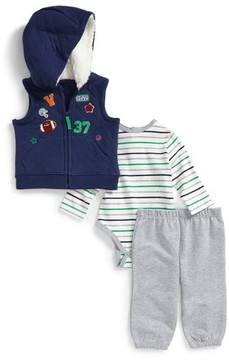Little Me Infant Boy's Sports Vest, Bodysuit & Pants Set