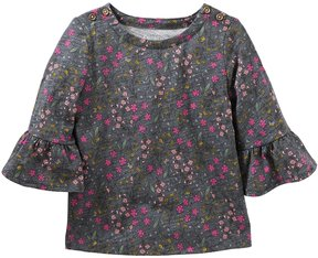 Osh Kosh Toddler Girl Floral Bell Sleeve Top