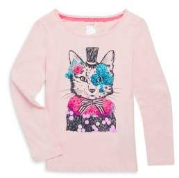Billieblush Toddler's, Little Girl's and Girl's Cat Cotton Tee