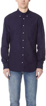 Gitman Brothers Long Sleeve Pin Dot Shirt