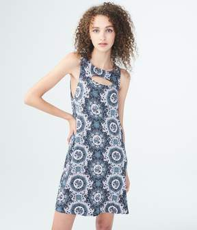 Aeropostale Geometric Print High-Neck Swing Dress