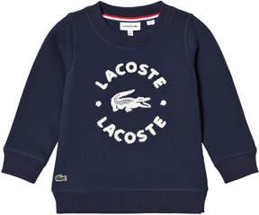 Lacoste Navy Branded Sweatshirt