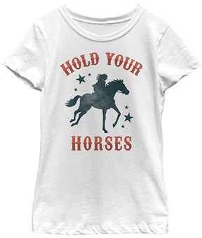 Fifth Sun White 'Hold Your Horses' Tee - Girls