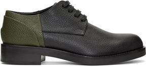 Marni Black and Green Colorblocked Derbys