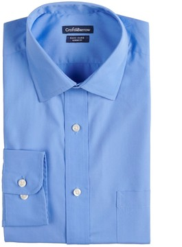 Croft & Barrow Men's Slim-Fit Easy-Care Spread-Collar Dress Shirt