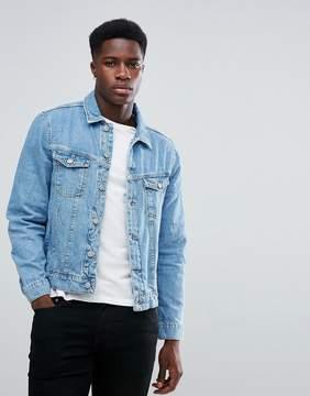 MANGO Man Denim Jacket In Light Wash