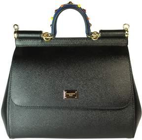 Dolce & Gabbana Black Jewelled Handle Sicily Tote - BLACK - STYLE