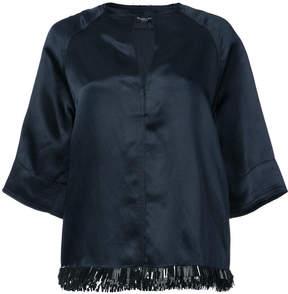 Derek Lam Short Sleeve Top with Embellished Hem