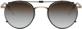Garrett Leight Black Clip-On Wilson Sunglasses