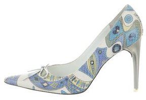 Emilio Pucci Snakeskin Pointed-Toe Pumps