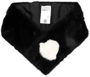 Moncler logo detail fur stole