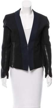 Edun Colorblock Zip-Accented Blazer