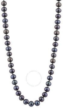 Bella Pearl Single Strand Black Freshwater Pearl 16 Necklace