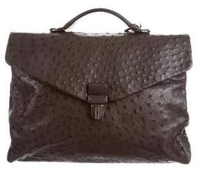 Bottega Veneta Ostrich Briefcase