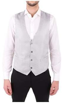 Corneliani Men's Grey Silk Vest.