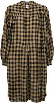 Aspesi oversized check shirt dress