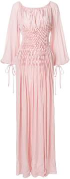 Ermanno Scervino ruched bell sleeve maxi dress