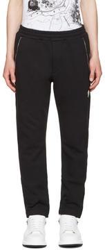 Alexander McQueen Black Zip Detail Lounge Pants