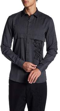 Antony Morato Embroidered Front Slim Fit Shirt