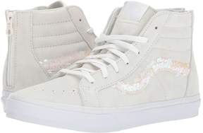 Vans Kids Sk8-Hi Zip Blanc De Blanc/True White) Girl's Shoes