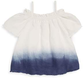 Joe's Jeans Little Girl's Dip Dye Linen Blouse