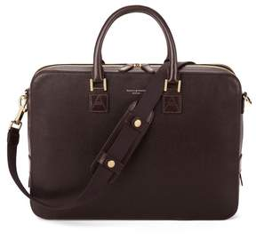 Aspinal of London Small Mount Street Bag In Brown Saffiano