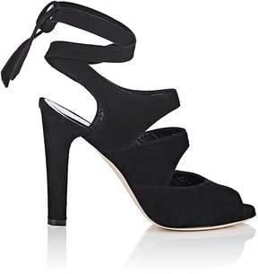 Barneys New York Women's Suede Ankle-Tie Sandals