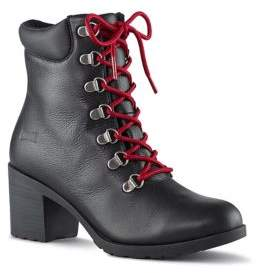 Cougar Angie Lace-Up Leather Booties