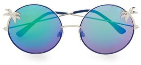 Topman Round Blue Revo Palm Tree Sunglasses