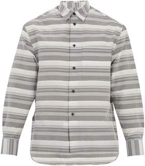 Lanvin Oversized striped cotton and silk-blend shirt