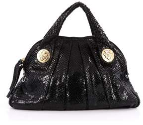 Gucci Pre-owned Hysteria Dome Satchel Snakeskin Large. - BLACK - STYLE