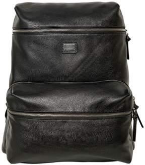 Dolce & Gabbana Deer Print Leather Backpack