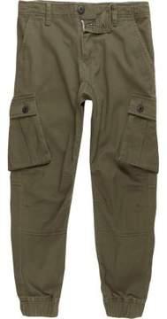 River Island Boys khaki green cargo pants
