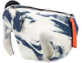 Loewe Mini Denim Elephant Crossbody Bag