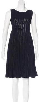 Alaia Fit and Flare Sleeveless Dress