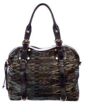 MZ Wallace Leather-Trimmed Printed Satin Satchel