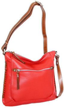 Women's Nino Bossi Carrie Leather Crossbody Bag