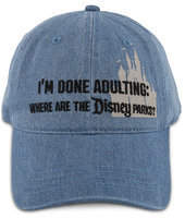 Disney Parks ''I'm Done Adulting'' Baseball Cap for Adults