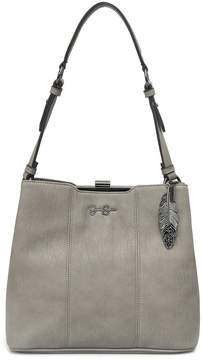 Jessica Simpson Devorah Feather Charm Hobo Bag