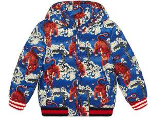 Children's Gucci Bengal print padded jacket