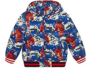 Gucci Children's Bengal print padded jacket