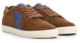Ralph Lauren Men's Brown Suede Sneakers.