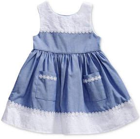 Sweet Heart Rose Chambray & Eyelet Dress, Baby Girls