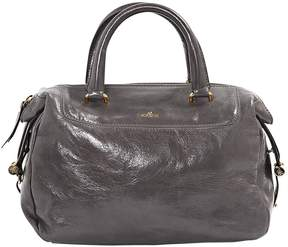 Hogan Grey Leather Handbag