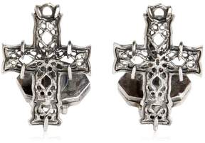 Emanuele Bicocchi Silver Cross Cufflinks